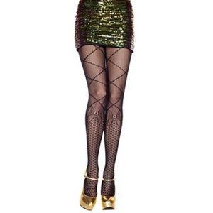 NWT Music legs fashion Hose big bows unique sassy
